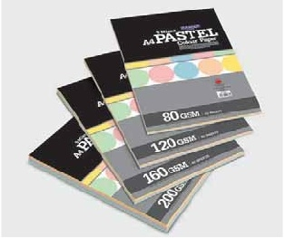 Camel Pastel Colour Paper/Card Mix - 50 sheets