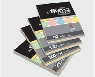 Camel Pastel Colour Paper/Card Mix - 100 sheets