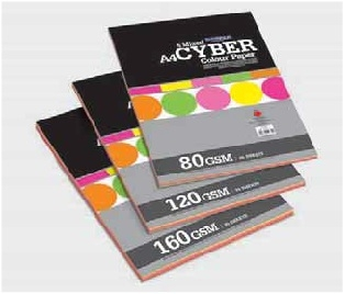 Camel Cyber Colour Paper/Card Mix- 50 sheets