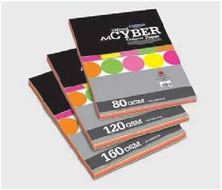 Camel Cyber Colour Paper/Card Mix- 100 sheets