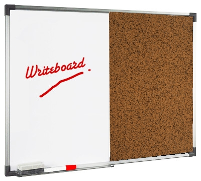 magnetic white boad & cork board dual board