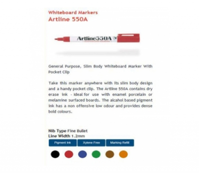 Artline Fine Whiteboard Marker