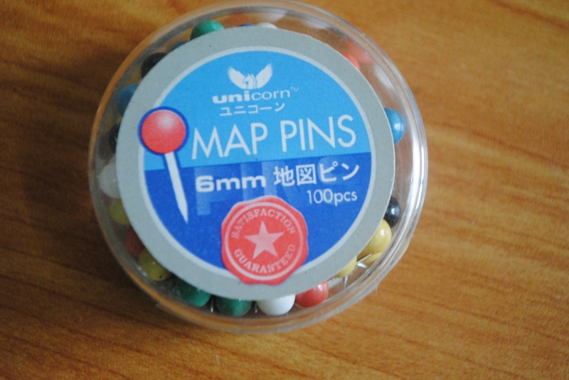 Unicorn Map Pin 6mm