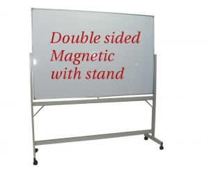 Double Sided Magnetic White Board With Stand