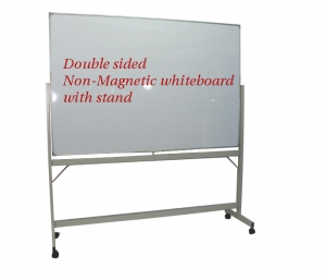 Double Sided Non-Magnetic White board With Stand